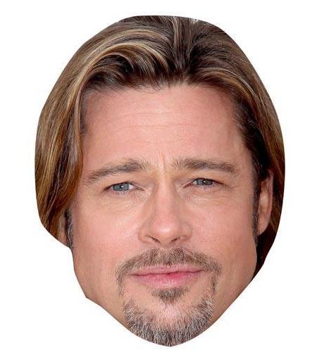 A Cardboard Celebrity Big Head of Brad Pitt