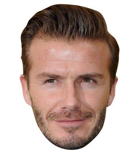 A Cardboard Celebrity Big Head of David Beckham