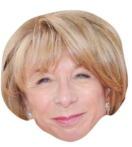 A Cardboard Celebrity Mask of Helen Worth