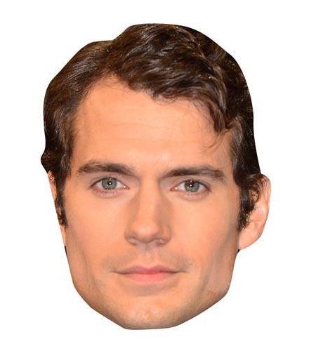 A Cardboard Celebrity Mask of Henry Cavill