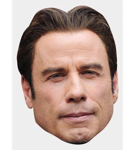 A Cardboard Celebrity Big Head of John Travolta