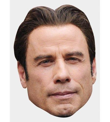 A Cardboard Celebrity Big Head of John Travolta