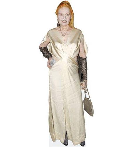 A Lifesize Cardboard Cutout of Vivienne Westwood wearing ivory