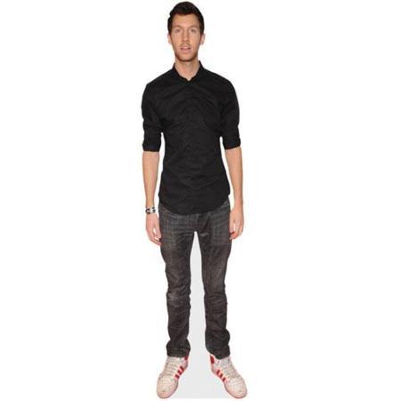 A Lifesize Cardboard Cutout of Calvin Harris wearing jeans