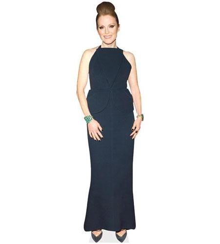 A Lifesize Cardboard Cutout of Julianne Moore wearing a gown