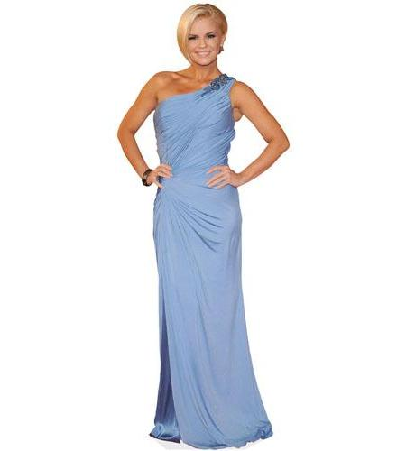 A Lifesize Cardboard Cutout of Kerry Katona wearing a gown