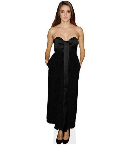 A Lifesize Cardboard Cutout of Shailene Woodley wearing a gown