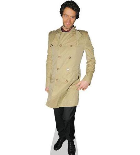 A Lifesize Cardboard Cutout of Howard Donald wearing a coat