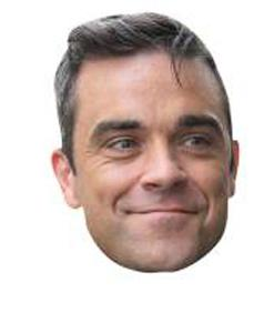 A Cardboard Celebrity Big Head of Robbie Williams