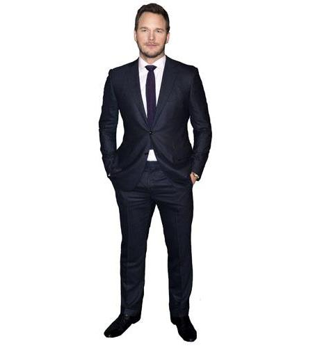 Cardboard Cutout of Chris Pratt wearing a suit