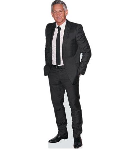 A cardboard cutout of Gary Lineker wearing a suit
