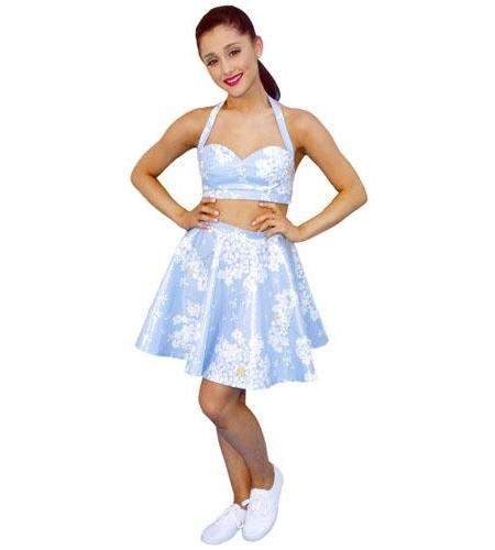 Ariana Grande (White Dress) Cardboard Cutout