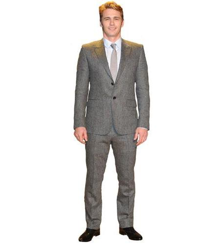 A Lifesize Cardboard Cutout of James Franco wearing a suit