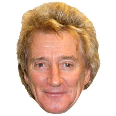 A Cardboard Celebrity Big Head of Rod Stewart
