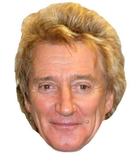 A Cardboard Celebrity Big Head of Rod Stewart