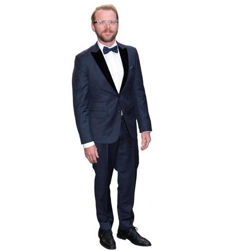 A Lifesize Cardboard Cutout of Simon Pegg wearing a suit