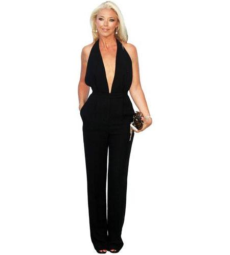 A Lifesize Cardboard Cutout of Tamara Beckwith wearing a trouser suit
