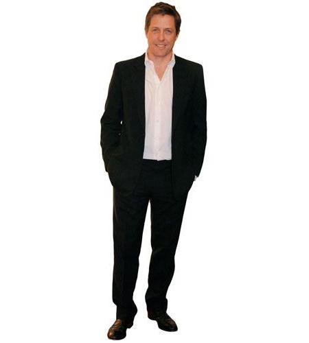 A Lifesize Cardboard Cutout of Hugh Grant wearing a suit