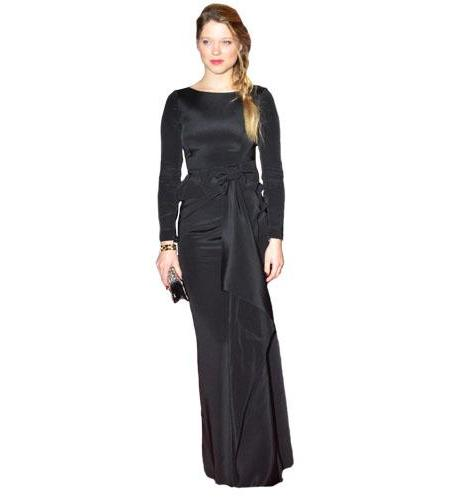 A Lifesize Cardboard Cutout of Lea Seydoux wearing a gown