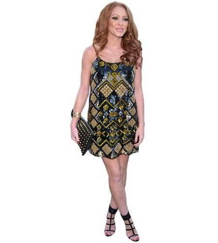 A Lifesize Cardboard Cutout of Natasha Hamilton wearing a dress