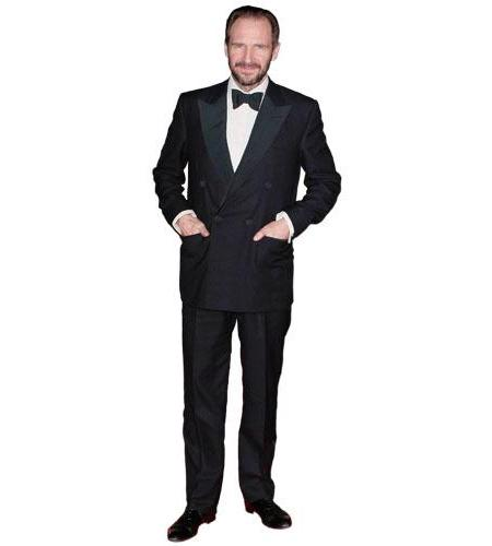 A Lifesize Cardboard Cutout of Ralph Fiennes wearing a dinner suit