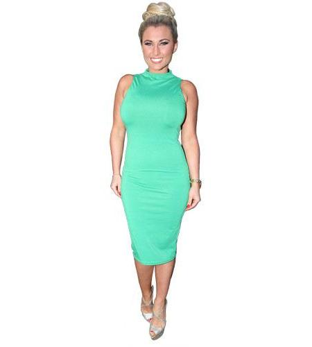 A Lifesize Cardboard Cutout of Billie Faiers wearing a dress