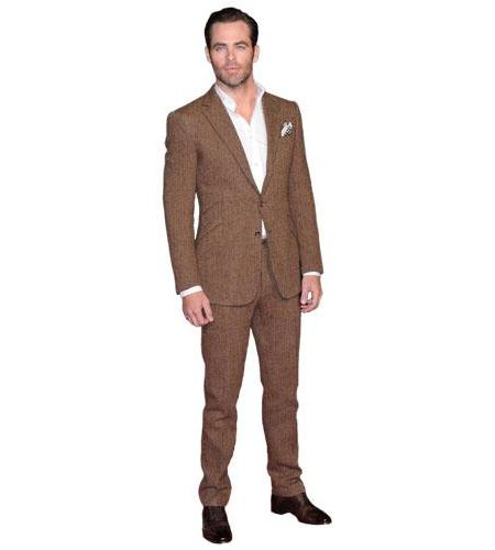 A Lifesize Cardboard Cutout of Chris Pine wearing a suit