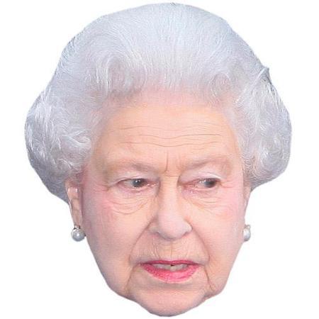 A Cardboard Celebrity Big Head of HRH The Queen