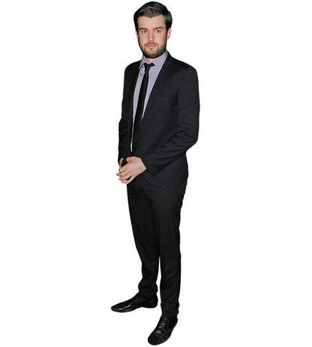 A Lifesize Cardboard Cutout of Jack Whitehall wearing a suit