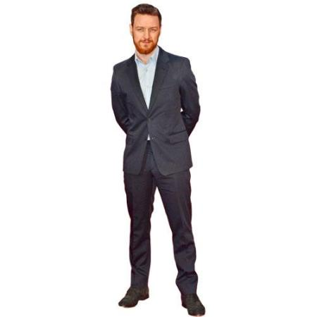 A Lifesize Cardboard Cutout of James McAvoy wearing a suit