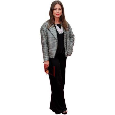A Lifesize Cardboard Cutout of Louise Thompson wearing a dress