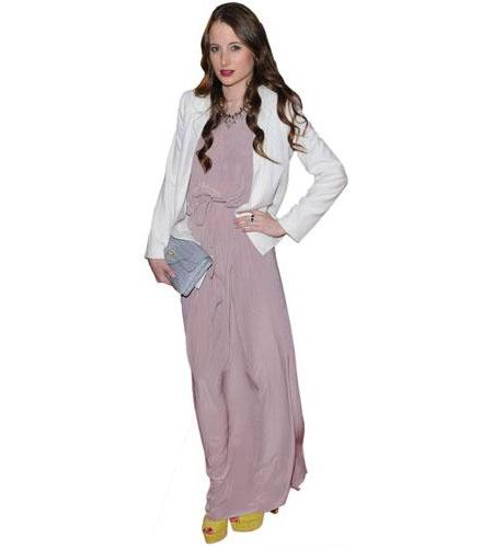 A Lifesize Cardboard Cutout of Rosie Fortescue wearing a dress