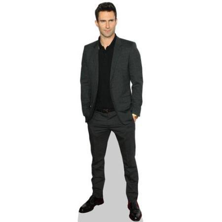 A Lifesize Cardboard Cutout of Adam Levine wearing a suit