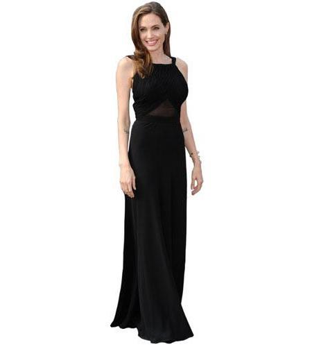 Angelina Jolie Black Dress Cardboard Cutout