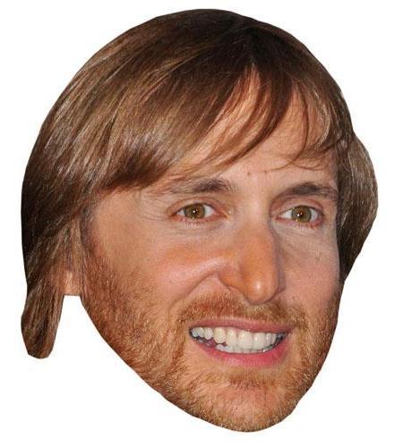 A Cardboard Celebrity David Guetta Big Head