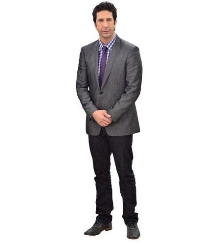A Lifesize Cardboard Cutout of David Schwimmer wearing a suit