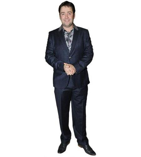 A Lifesize Cardboard Cutout of Jason Manford wearing a suit