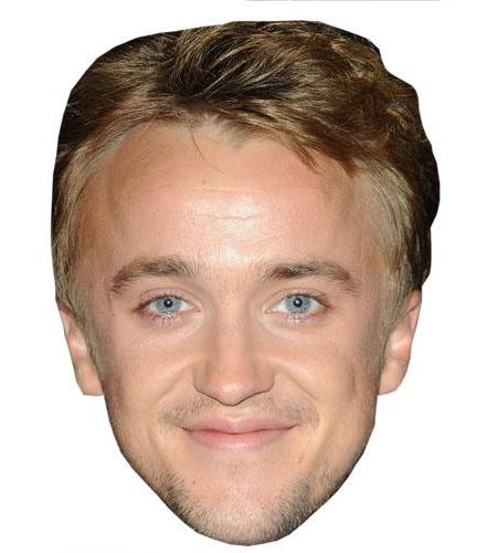 A Cardboard Celebrity Big Head of Tom Felton