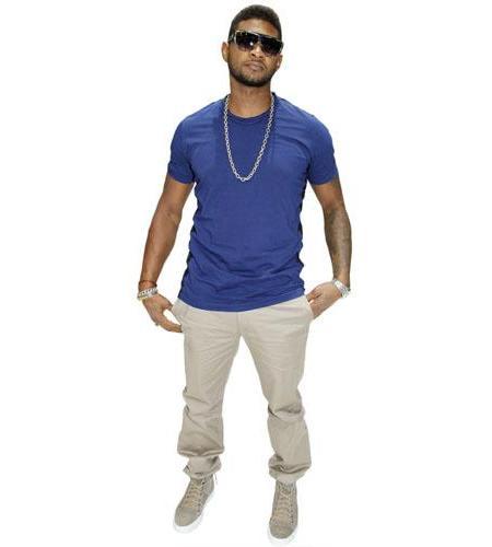 A Lifesize Cardboard Cutout of Usher wearing shades