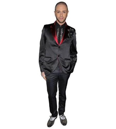 A Lifesize Cardboard Cutout of Brian Friedman wearing a tie