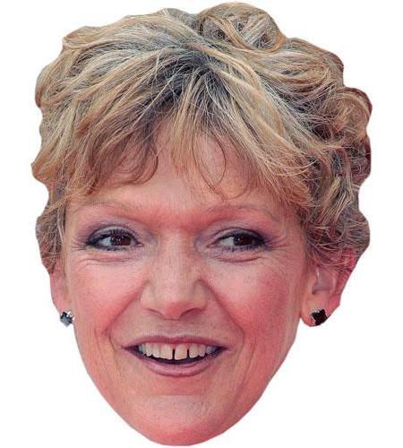 A Cardboard Celebrity Mask of Gillian Wright