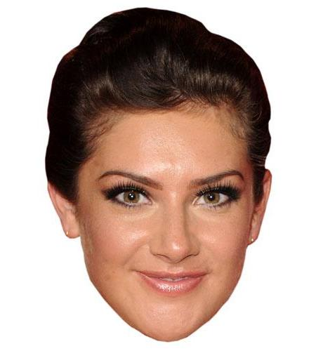 A Cardboard Celebrity Big Head of Isabel Hodgins