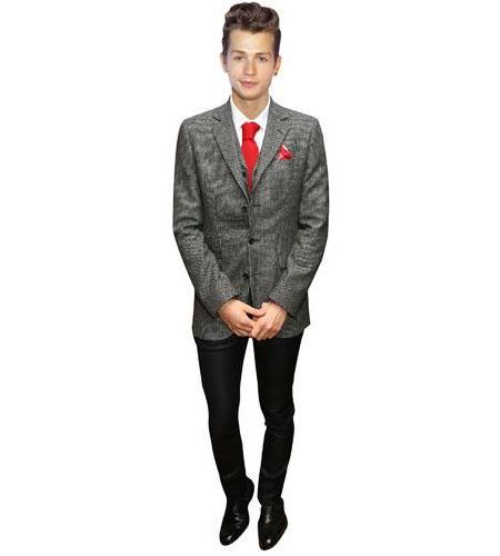 A Lifesize Cardboard Cutout of James McVey wearing a suit
