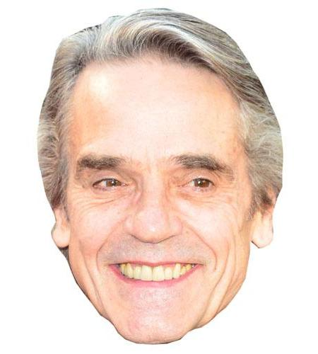A Cardboard Celebrity Big Head of Jeremy Irons