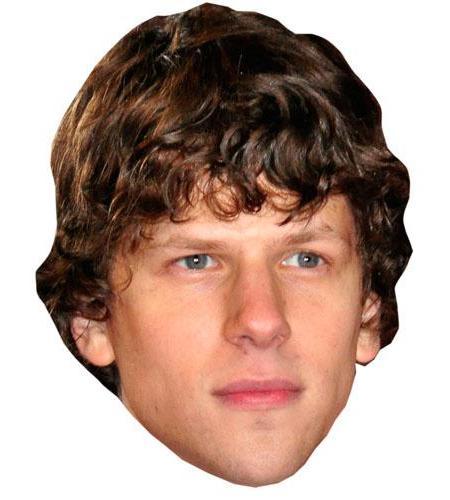 A Cardboard Celebrity Mask of Jesse Eisenberg