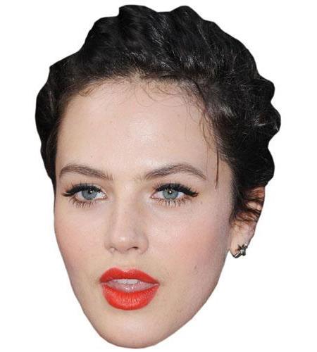 A Cardboard Celebrity Big Head of Jessica Brown Findlay