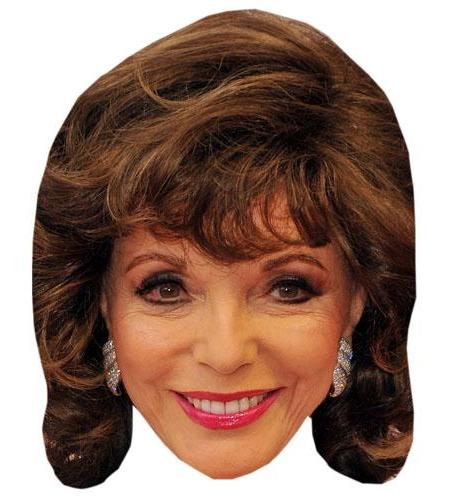 A Cardboard Celebrity Big Head of Joan Collins