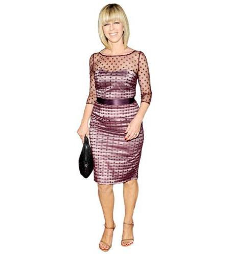 A Lifesize Cardboard Cutout of Kate Garraway wearing a dress