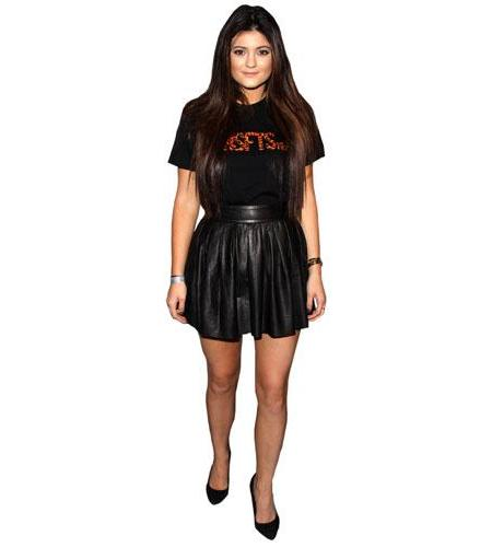 A Lifesize Cardboard Cutout of Kylie Jenner wearing a dress