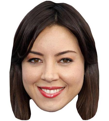 A Cardboard Celebrity Big Head of Aubrey Plaza